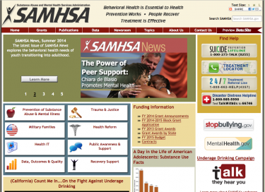 www.SAHMSA.gov contains a wealth of information on behavioral health, including grant opportunities
