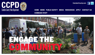 Camden County Police Department Web Page reflects the engagement with the community