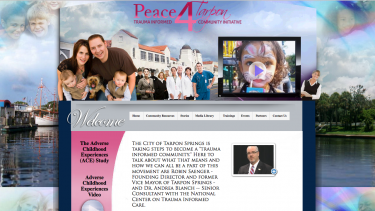 Peace4Tarpon website introduces the ACE Study and the work that Tarpon Springs is doing to be a Trauma-Informed community
